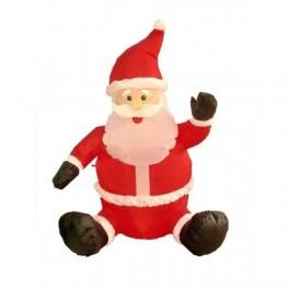 4 Foot Inflatable Sitting & Waving Santa Claus