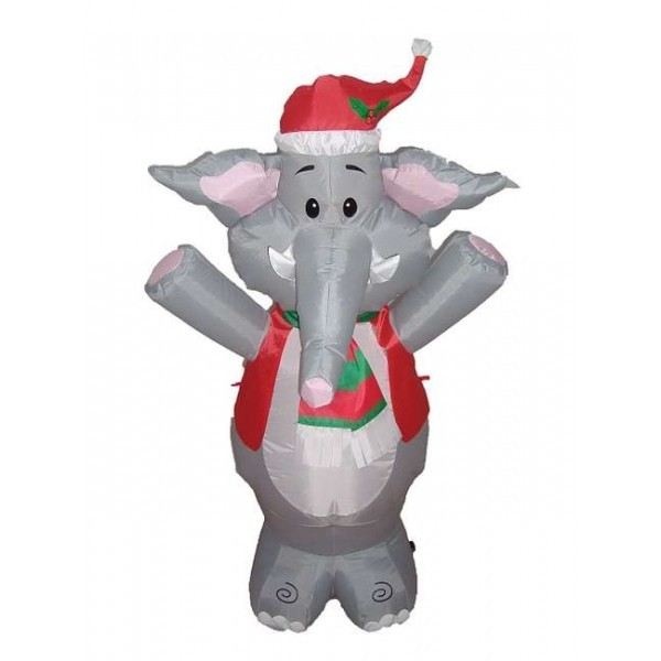4 foot christmas blow up cute elephant view full size - Blow Up Christmas