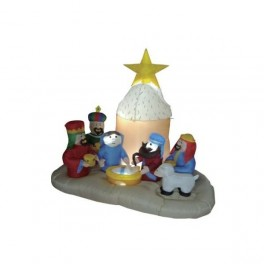 5 Foot Christmas Inflatable Nativity Scene (6 Characters)