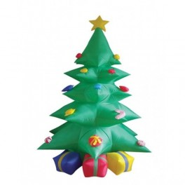 8 Foot Green Inflatable Christmas Tree w/ Multicolor Gift Boxes