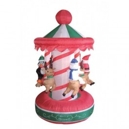 6.5 Foot Animated Christmas Inflatable Rotating Carousel