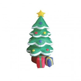 6 Foot Inflatable Decorated Christmas Tree with Gifts