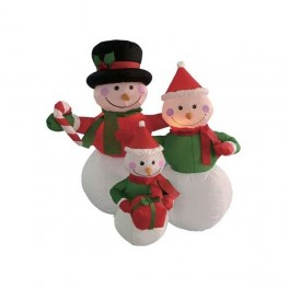 4 Foot Inflatable Snowmen Family Holding Gifts