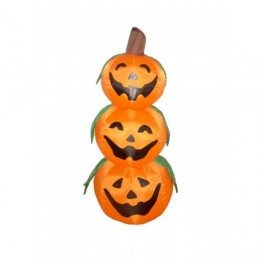 4 Foot Halloween Inflatable 3 Pumpkins