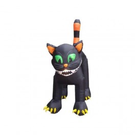 11 Foot Animated Inflatable Giant Black Cat