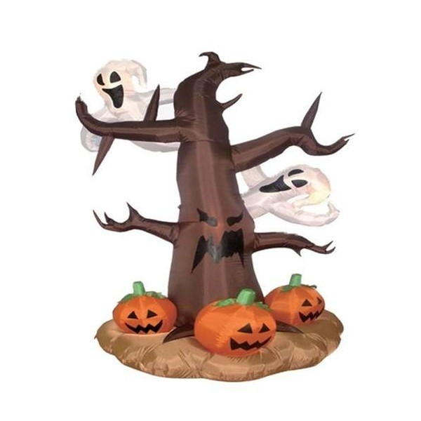 Foot halloween inflatable dead tree with ghosts pumpkins