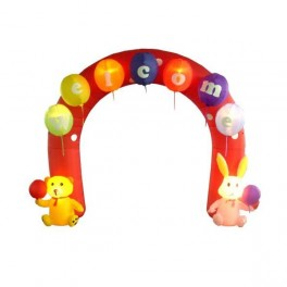 9 Foot Inflatable Party Archway with Rabbit and Bear
