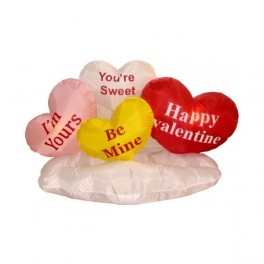8 Foot Long Inflatable Valentine's Day Hearts on Cloud