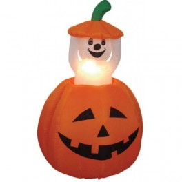 4 Foot Animated Inflatable Pumpkin & Popup Ghost