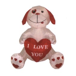 4 Foot Valentine's Day Inflatable Cute Puppy & Heart I Love You Decoration