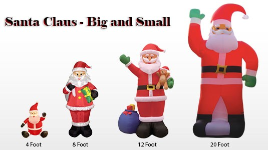 Exceptional 4 Foot Inflatables · Santa Big And Small ...